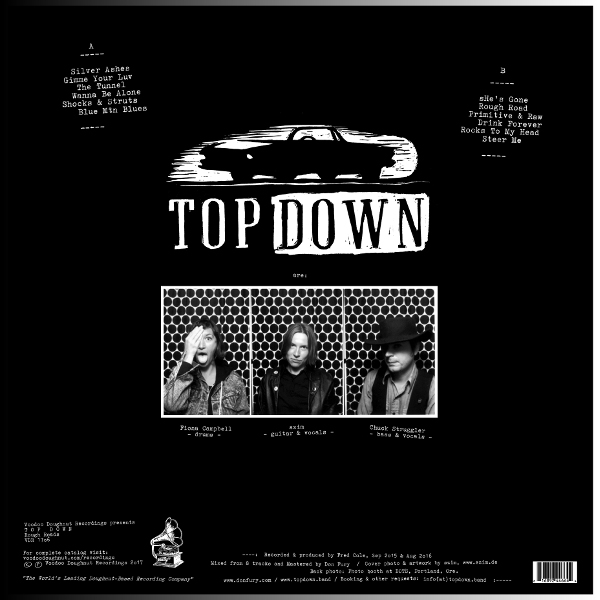 Top Down | Rough Roads -- Album Cover Reverse