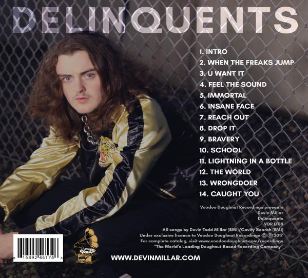 Devin Millar | Delinquents Album Cover -- Reverse